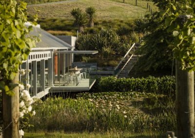 Glass House by the Pond